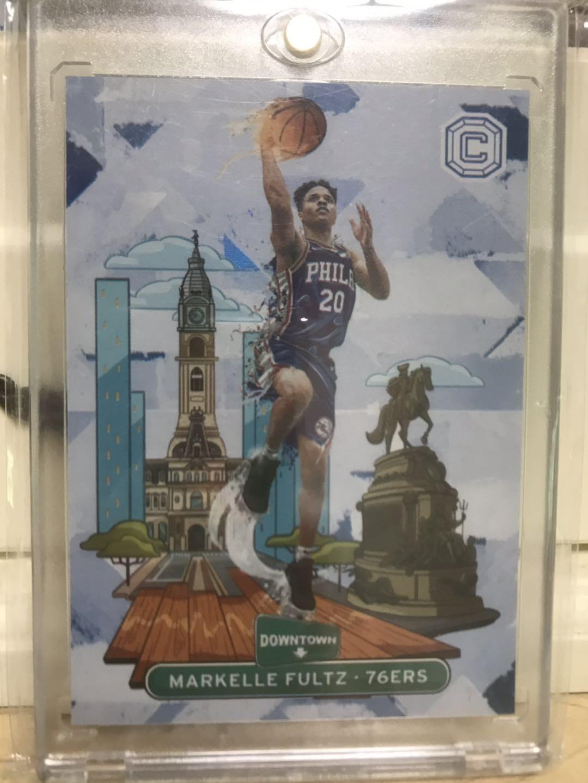 【BKH篮球卡拍卖】2017-18 76人队 状元 富儿子 富尔茨 城市特卡 箱货 未来可期