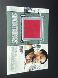 拳击卡 BOXING 前重量级拳王 雷诺克斯 刘易斯 实物卡