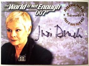 电影 007 James Bond 詹姆斯 邦德 朱迪 丹奇 M夫人 签字 签名