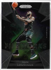 NBA球星卡  Prizm系列 FIREWORKS 詹姆斯 特卡