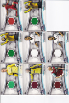 C587 周天行 2013 Topps Premier 英超 系列 经典 球衣卡 8张一起出 如图 超级漂亮 真心经典