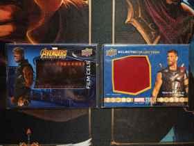漫威十周年 雷神 胶片卡 衣料卡 2张打包