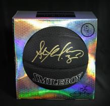 【城市英雄-马布里】系列 巢 马布里品牌 夜光篮球 黑色 金笔 签名 签字 高端礼品 证书 Stephon Marbury