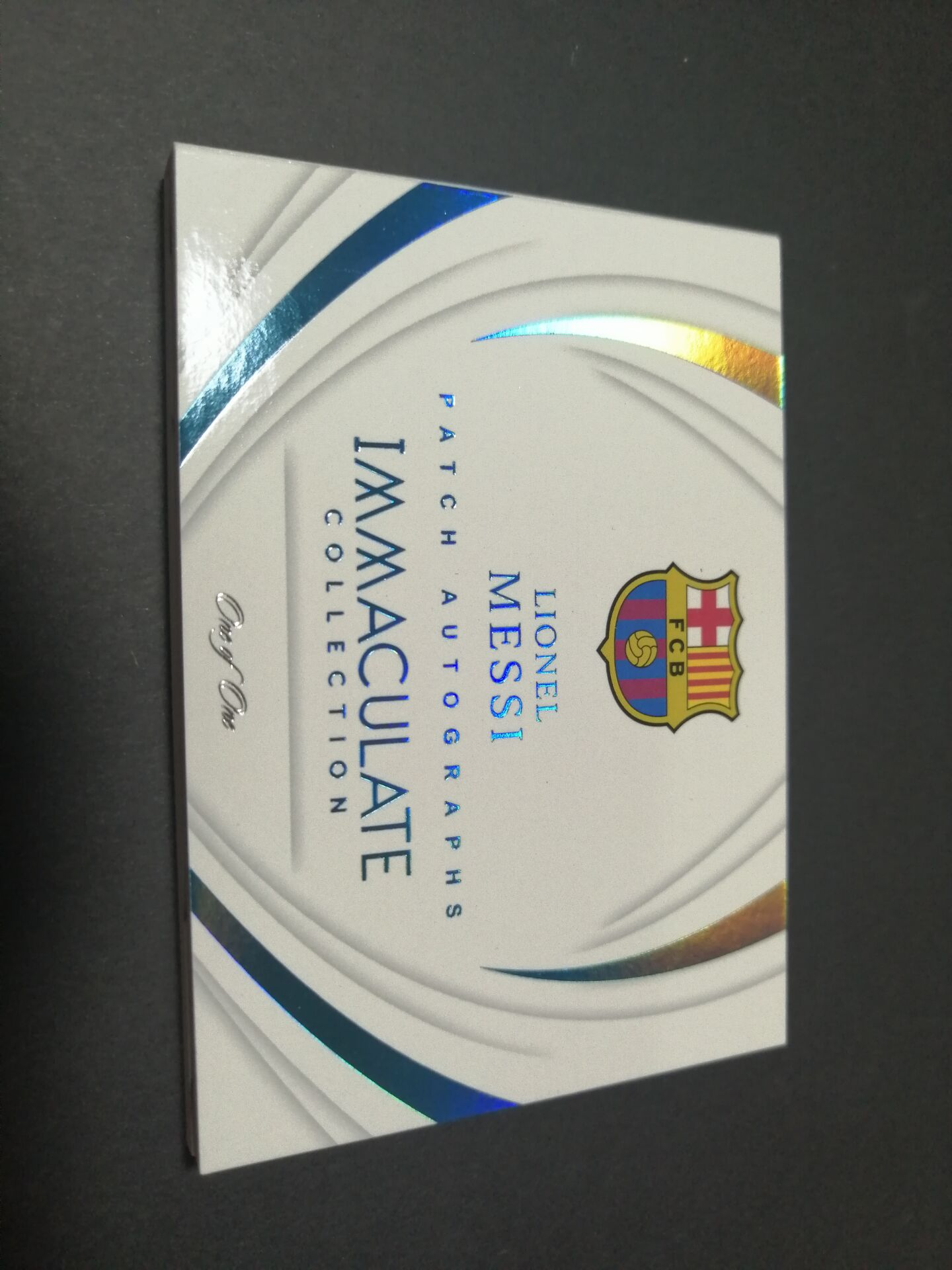 Patch Autographed Booklets Platinum Messi 1/1 one of a kind 梅西巴萨球衣小书1/1 无平行 immaculate