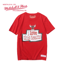 Mitchell & Ness系列 NBA系列印花T恤-Bulls公牛队 MN13S14-CHI  M号 中号 红色 1件