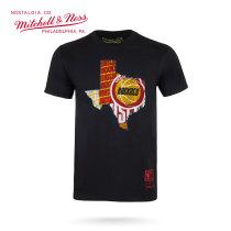 Mitchell & Ness系列 NBA系列印花T恤-火箭 MN13S31-HOU XL号 加大号 黑色 1件