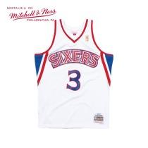 Mitchell & Ness系列 MN复古球衣-SWINGMAN球迷版-费城76人队 阿伦·艾弗森 新秀白色主场 SMJYGS18198-P76WHIT96AIV L号 大号 1件