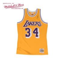 Mitchell & Ness系列 MN复古球衣-SWINGMAN球迷版-洛杉矶湖人队 1996-97奥尼尔 黄色主场 SMJYGS18177-LALLTGD96SON M号 中号 1件