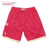 Mitchell & Ness系列 MN复古球裤-SWINGMAN球迷版-1993-94赛季客场-休斯顿火箭队 SMSHGS18233-HROSCAR93 M号 中号 红色 1件