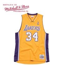Mitchell & Ness系列 复古球衣-SWINGMAN球迷版-1999湖人-奥尼尔#34 BA84QV-LAL-D-C74 M号 中号 黄色 1件
