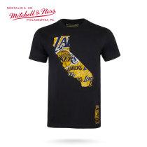 Mitchell & Ness系列 NBA系列印花T恤-湖人 MN13S31-LAL XL号 加大号 黑色 1件