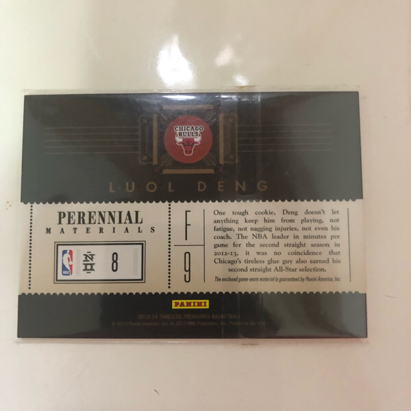 PANINI 2013-14 TIMELESS TREASURES BASKETBALL LUOL DENG 球衣卡
