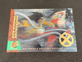 2018 X战警 1994年回购卡 金刚狼vs红欧米伽 限量 40/50 一盒一张 稀有!漫威迷凑套收藏必备!Fleer ultra X-men