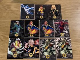 2017 X战警 METAL特卡 银宝 11张打包 包括白皇后加农炮,小淘气等英雄!漫威X战警迷凑套收藏!Fleer Ultra X-Men