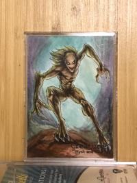 2019破娜系列,手绘,恐怖生物之温迪格;A级画家牛顿巴博萨