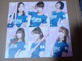 。     非日本  棒球啦啦队。美人 持球棒款lot6 一图一起拍 内含队长   入手困难  选图精美