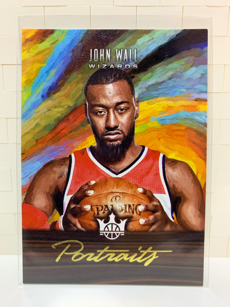 请仔细阅读后出价!!!2017-18 panini 油画系列,约翰 沃尔,油画相框,限量175张!