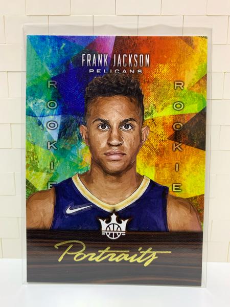 请仔细阅读后出价!!!2017-18 panini 油画系列,弗兰克 杰克逊,新秀油画相框,限量175张!