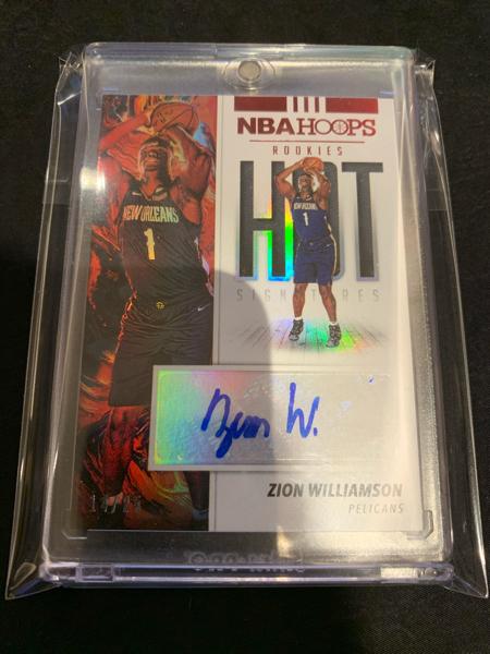 NBA球星卡 Hoops系列 鹈鹕队状元 大热 锡安 威廉姆斯 Zion Williams 签字 25编 身材球技爆炸 接报价 非诚勿扰
