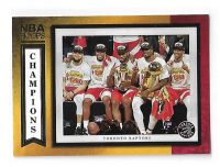NBA球星卡 HOOPS系列 2019-2020 猛龙队 NBA 总冠军 合照 特卡 值得珍藏