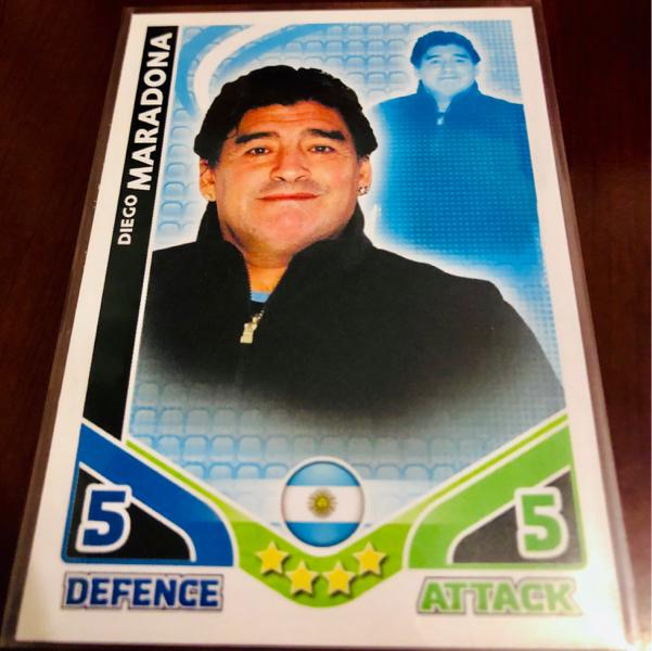 【酋长代拍】Topps Match Attax世界杯游戏版 教练特卡 阿根廷 球王 马拉多纳 老卡难觅 专收凑套必备!