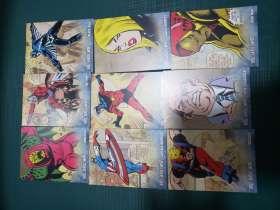 2011 MARVEL  ud 漫威漫画 人物特卡r   27张一套齐 难凑 钢铁侠 美国队长 等