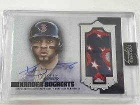 topps 棒球 波士顿红袜 赞德博佳茨 Xander Bogaerts 5/5尾编 超暴力切割 签字