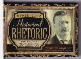 西奥多 罗斯福 2015 UD 历史人物有声卡 超厚 美国总统
