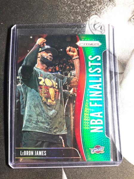 勒布朗 詹姆斯 prizm 奖杯 绿折 十分稀少 比银折少很多!