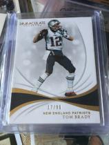 2019 Imm NFL 橄榄球 新英格兰爱国者 传奇老汉,汤姆 布雷迪 Tom Brady 99编限量卡。