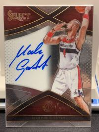 NBA球星卡 2015-16 Select系列 周琦国家队队友 波兰 铁锤 戈塔特 签字 卡签 149编
