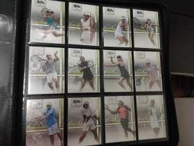 网球 普卡 合集 50张 非常少见的一套 里面 含有 费德勒 纳达尔 德约科维奇 莎拉波娃 萨芬等 名将