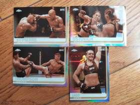 19 topps chrome UFC 特殊包出品 四张打包含RC 实卡很美