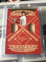 MLB 棒球 日本新偶像 大谷翔平 Ohtani 洛杉矶天使队 双球棒切片, 99编,卡片巨厚。