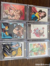 6张手绘打包,漫威  DC 破哪系列等