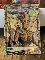 2015 UD 漫威合金/振金 VIBRANIUM 沙点折射RAW平行 银河护卫队成员 树人格鲁特 超闪 已绝版 漫威迷一定收藏!V110