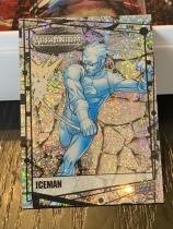 2015 UD 漫威合金/振金 VIBRANIUM 沙点折射RAW平行 欧米伽级变种人 冰人 超闪 已绝版 漫威迷一定收藏!V111