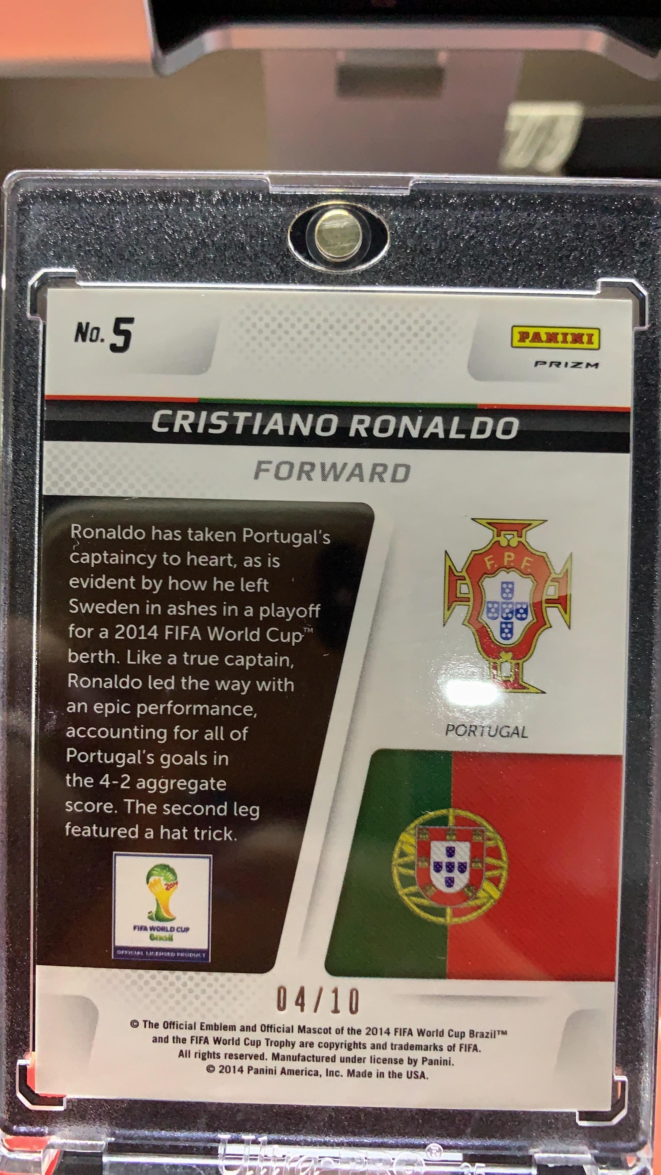 2014 prizm 世界杯 对长特卡 葡萄牙 C罗 罗纳尔多 金折4/10 实卡美如画 不要错过 不要等起飞再抢