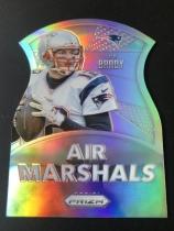 Prizm 空中元帅 NFL 橄榄球 汤姆 布雷迪 Tom Brady 切割 银折。超美!