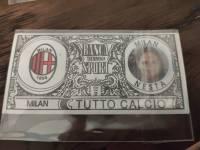 AC米兰 稀有欧元钞票卡 内斯塔 值得收藏的好东西 品相如图