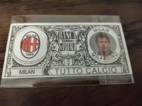 AC米兰 稀有欧元钞票卡 吉拉迪诺 值得收藏的好东西 品相如图
