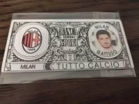 AC米兰 稀有欧元钞票卡 加图索 值得收藏的好东西 品相如图