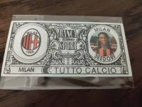 AC米兰 稀有欧元钞票卡 西多夫 值得收藏的好东西 品相如图