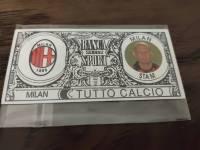 AC米兰 稀有欧元钞票卡 斯塔姆 值得收藏的好东西 品相如图