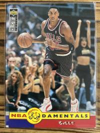 皮蓬 upper deck 1996 cc nba damentals bulls 公牛队客场球衣 乔丹最佳拍档 皮二爷 专收 凑套必备 稀少老卡