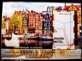 古德温 Goodwin 世界地图 世界旅行卡 荷兰首都 阿姆斯特丹