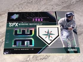 铃木一郎 ICHIRO 2003 UD SPX  棒球 西雅图水手队 MLB 球衣+球队 橡胶LOGO 超厚/375