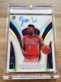 【广州名人堂球星卡】2019-20 immaculate Zion Williamson 蔡恩 milestones 里程碑 系列大Hit 11/25