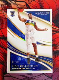 【八戒】2019-20 immaculate Zion Williamson 蔡恩 胖虎 金版 Base /10 品相完美 sp 非常稀有