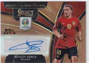 【越秀山拍卖行】2020欧洲杯Select-比利时松克11/49古铜折签字沙尔克04ZZLLYXS2043007